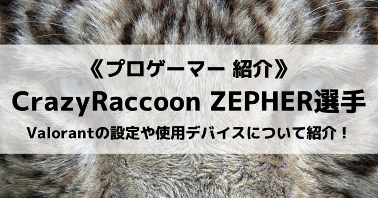 CRのZEPHER選手について紹介