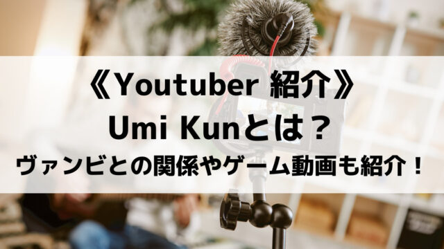元歌い手UmiKunとは?弟がヴァンビって本当?気になるゲーム動画も紹介!