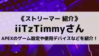 海外ストリーマーのiiTzTimmyさんについて紹介!