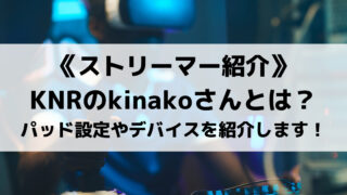 KNRのkinakoさんを紹介!有名ストリーマーのパッド設定やデバイスを紹介!!