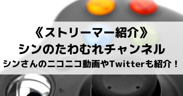 シンのたわむれチャンネルとは?シンさんのニコニコ動画やTwitterも紹介!