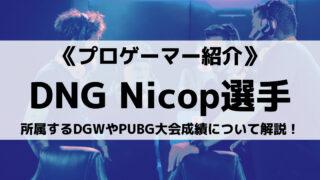 DNGのNicop選手とは?所属するDGWやPUBG大会成績について解説!